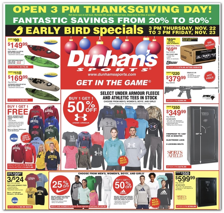 size 40 5c7c5 6158a Dunhams Sports Black Friday 2019 Ad, Deals and Sales